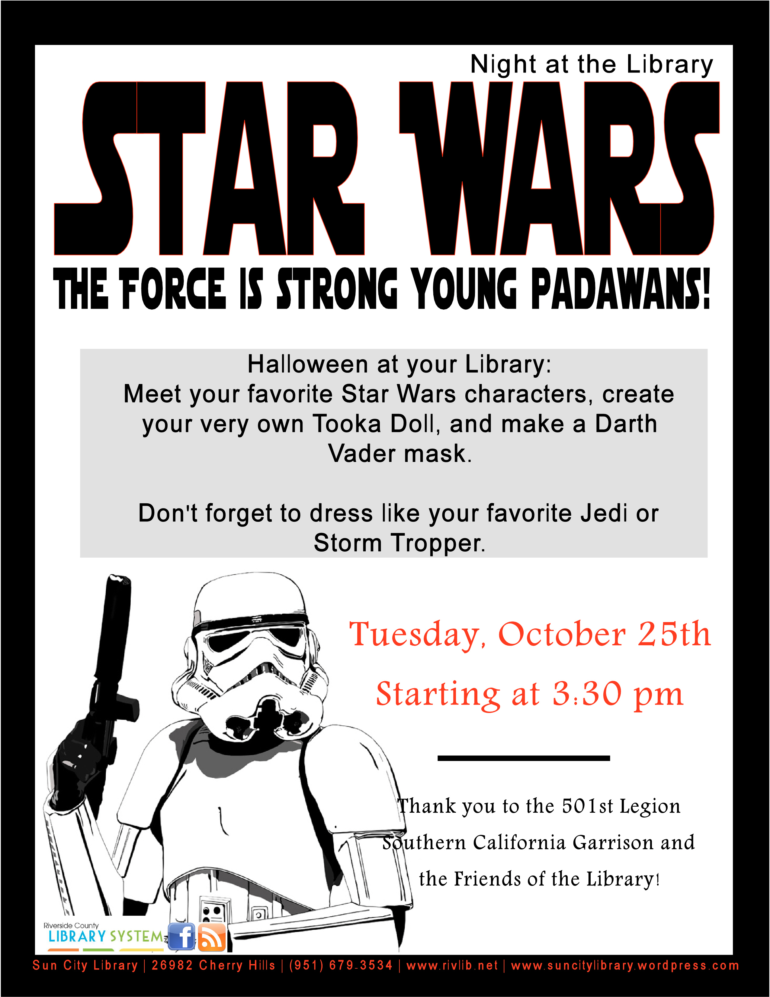 Stars Wars Night At The Library